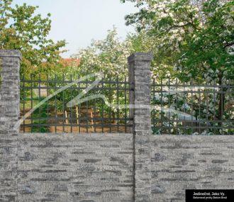 Beton Brož Plot Tvář kamene® Gabro - sloupek