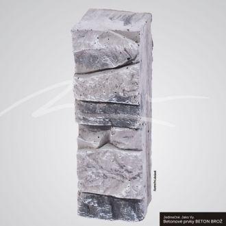 Beton Brož Plot Tvář kamene® Gabro - vložka do sloupku