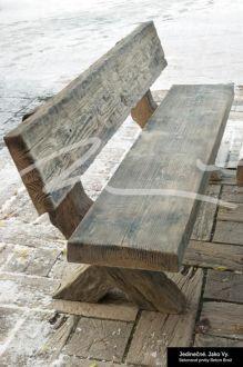 Beton Brož Lavice typ fošna s opěradlem