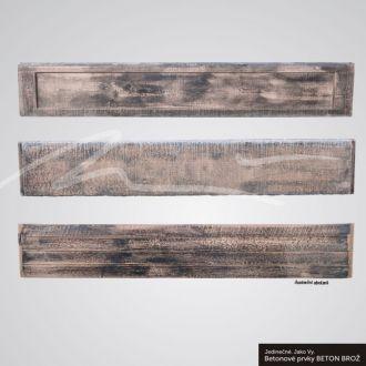 Beton Brož Plot Tvář dřeva® - deska - Plot Tvář dřeva® - deska pro oboustranné použití Kazeta BETON BROŽ