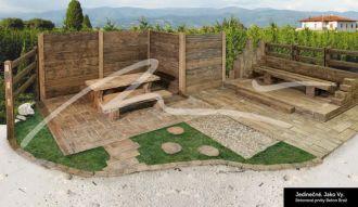 Beton Brož Plot Tvář dřeva® - sloupek