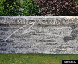 Beton Brož Plot Tvář kamene® Gabro - deska