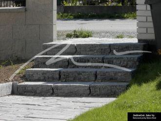 Beton Brož Plot Tvář kamene® Gabro Schodišťový blok / zdicí blok sloupkový ukončovací