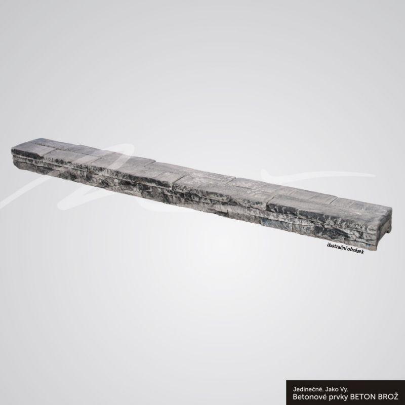 Beton Brož Plot Tvář kamene® Gabro - stříška na desku BETON BROŽ