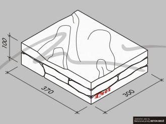 Plot Tvář kamene® Gabro - stříška na sloupek pískovec oboustranná