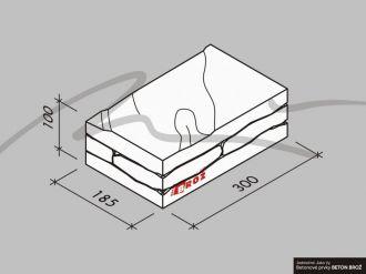 Plot Tvář kamene® Gabro - stříška na sloupek jednostranná pískovec