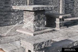 Beton Brož Plot Tvář kamene® Gabro - stříška na sloupek