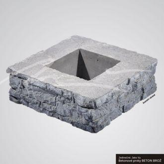 Beton Brož Plot Tvář kamene® Gabro Zdicí blok sloupkový