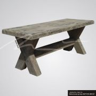 Beton Brož Stůl typ fošna BETON BROŽ