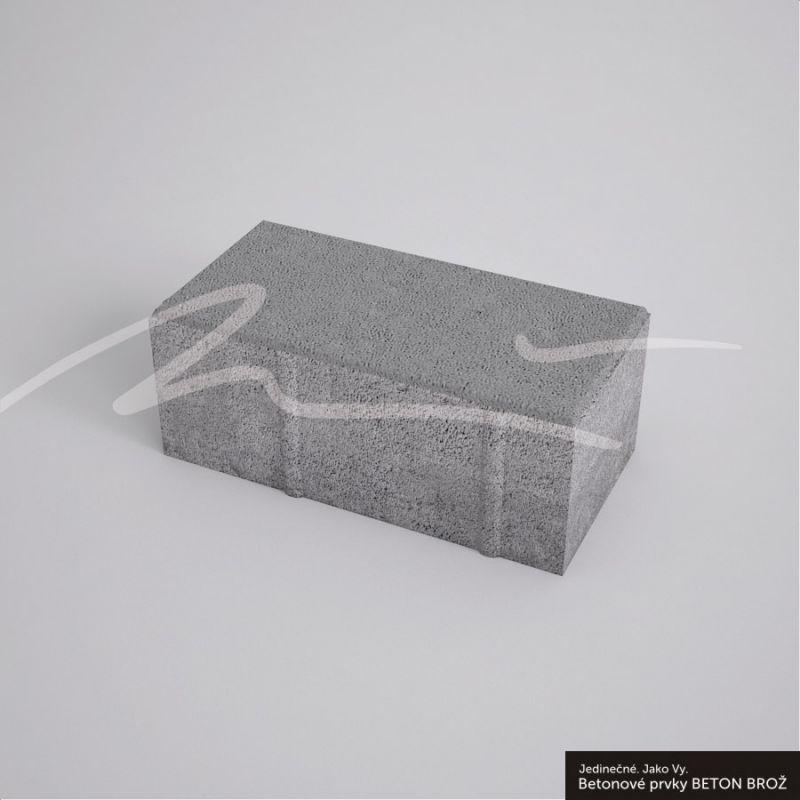 Dlažba skladebná Brož Parketa 4 cm - šedá BETON BROŽ