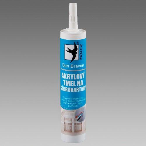 Akrylový tmel na sádrokartony 310 ml bílý DEN BRAVEN
