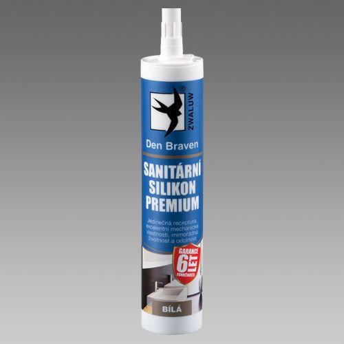 Sanitární silikon Den Braven PREMIUM 310 ml transparentní