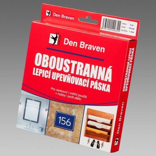 Den Braven B5202RL Oboustranně lepící páska - šířka (mm): 15 x 2 délka (m): 10