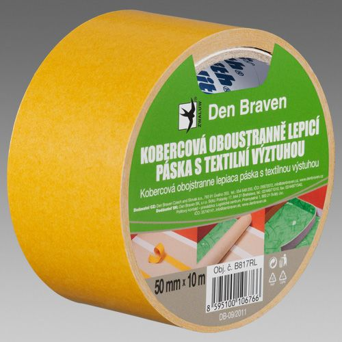 Kobercová oboustranně lepicí páska s textilní výztuhou DEN BRAVEN
