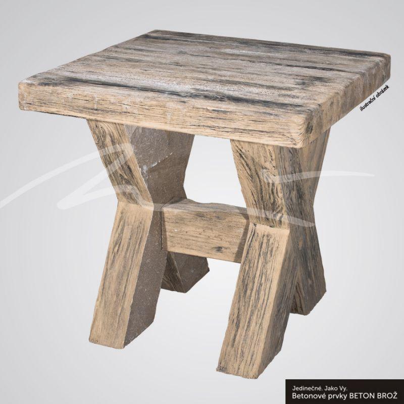 Beton Brož Stůl typ fošna 80 BETON BROŽ
