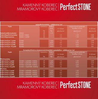 DEN BRAVEN Kamenný koberec PerfectSTONE MRAMOROVÝ KAMÍNEK pytel 25kg