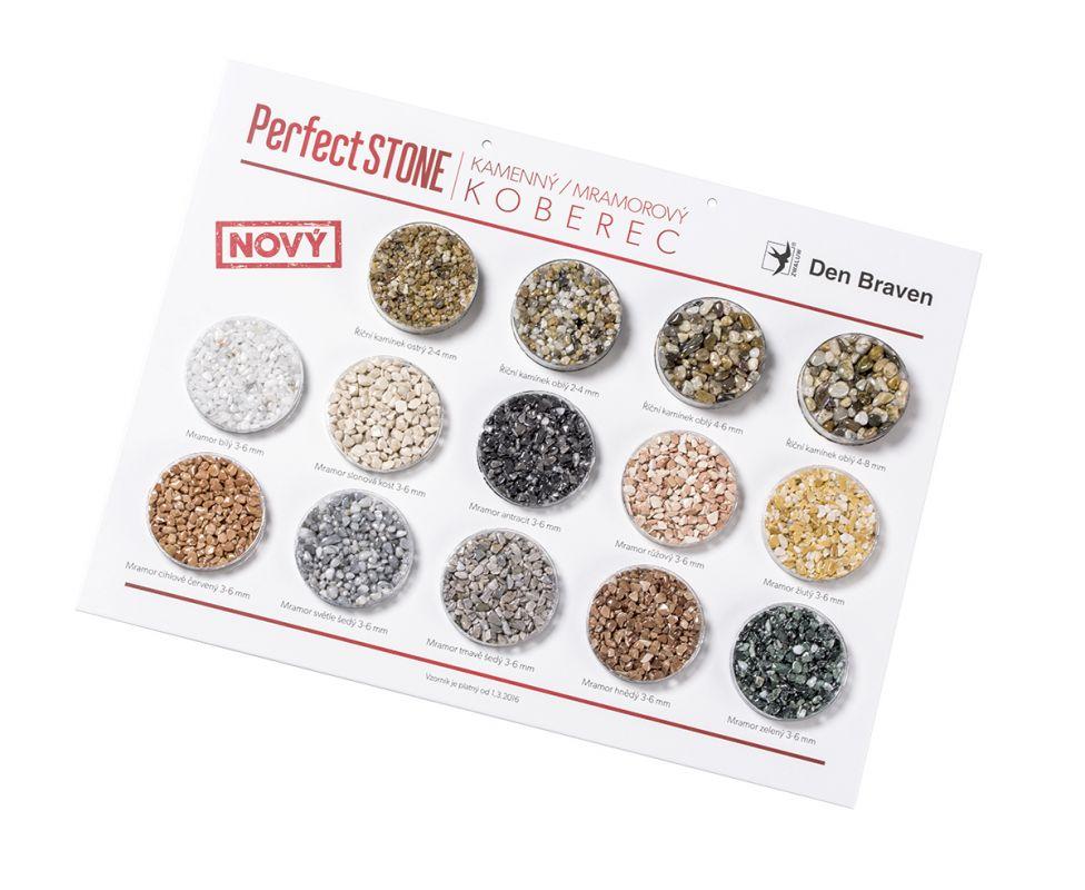 DEN BRAVEN Kamenný koberec PerfectSTONE říční kamínky 25 kg
