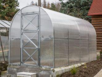 Zahradní skleník z polykarbonátu Dvushka 2x2 m