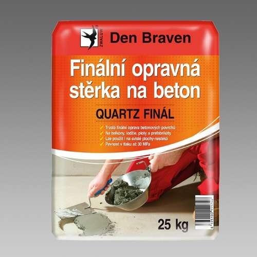 Den BravenFinální opravná stěrka na beton QUARTZ FINAL