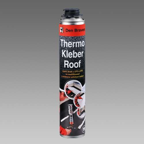 Lepidlo Thermo Kleber Roof Den Braven 40221RF 750 ml žlutá