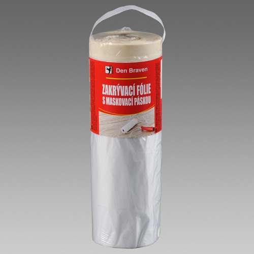 Zakrývací fólie s maskovací páskou transparentní DEN BRAVEN