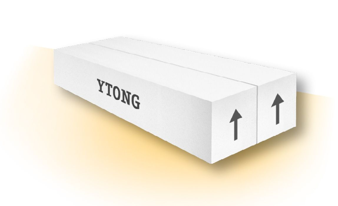 YTONG Plochý překlad PSF 125-1500, 125x124x1500 mm