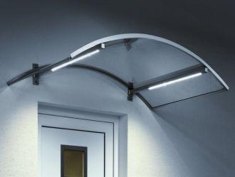 Guttavordach LED 150 x 90 cm stříbrná