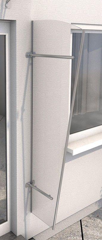 Vchodová stříška Guttavordach PT/G akryl čirá/ stříbrná (boční stěna)