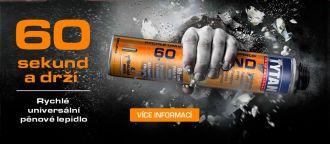 60 Sekund – rychlé univerzální pěnové lepidlo pěna pistolová SELENA BOHEMIA