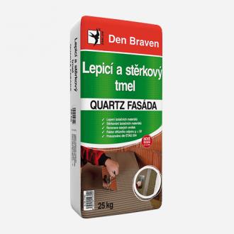 Lepicí a stěrkový tmel Quartz Fasáda Den Braven 25 kg šedá