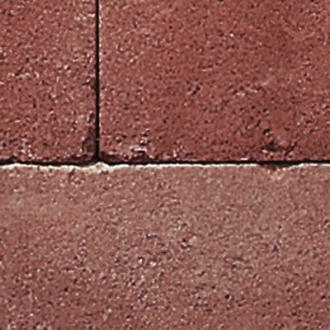 červená poloviční kámen 20/20/14 cm